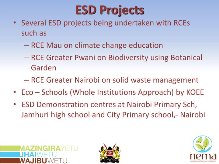 ESD Projects