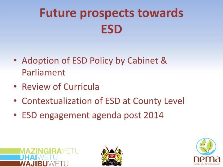 Future prospects towards