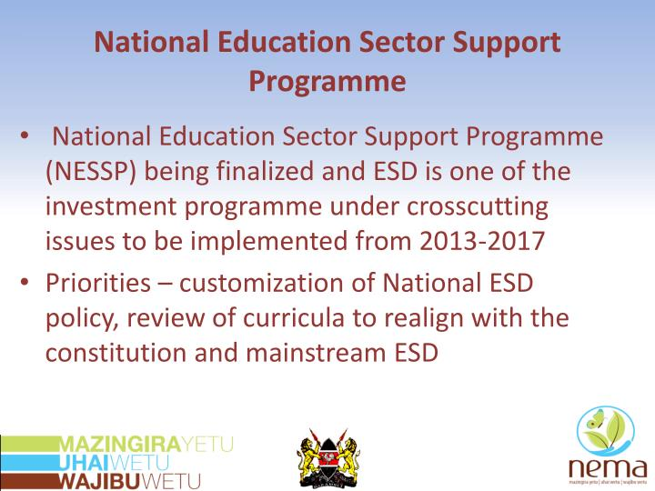 National Education Sector Support Programme