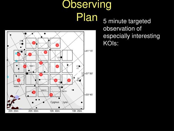Observing Plan