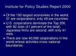 institute for policy studies report 2000