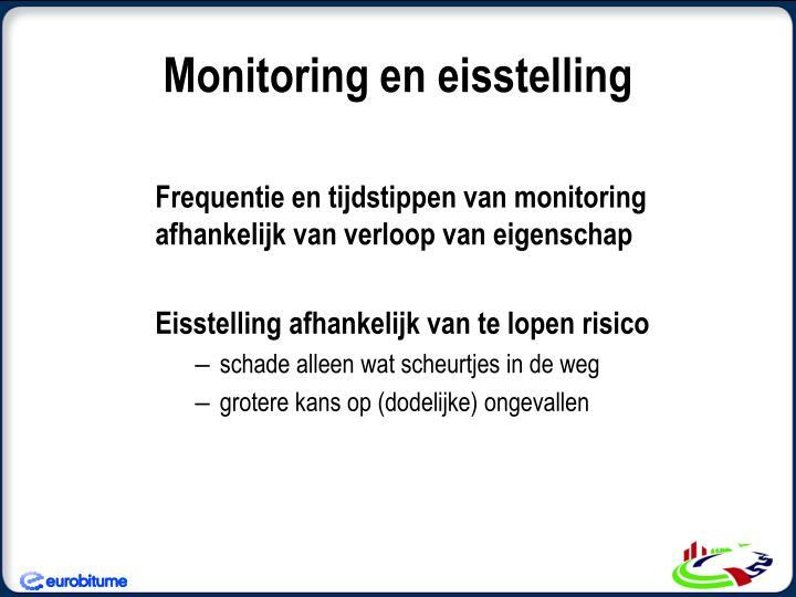 Monitoring en eisstelling