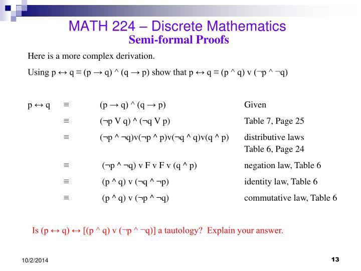 PPT - MATH 224 – Discrete Math...