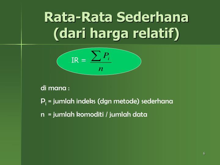 Rata-Rata Sederhana