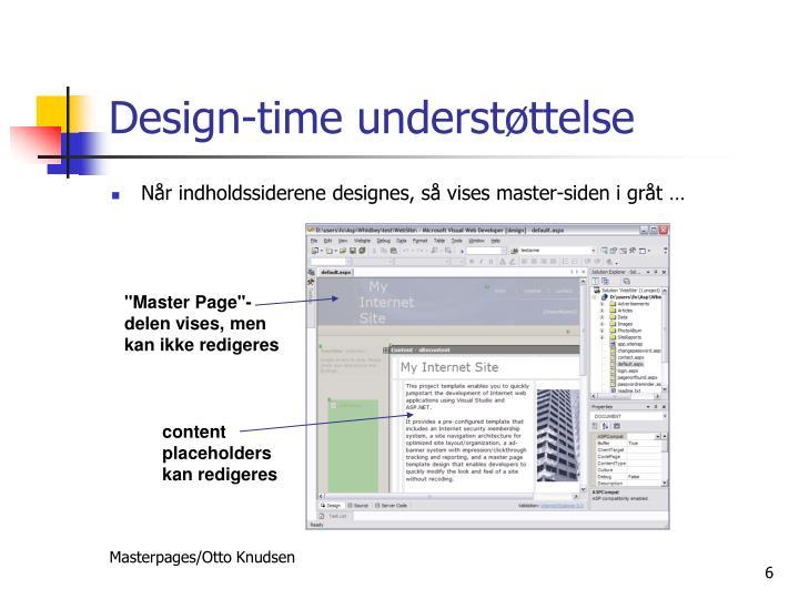 Design-time understøttelse