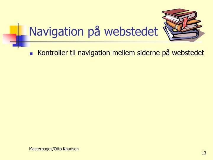 Navigation på webstedet