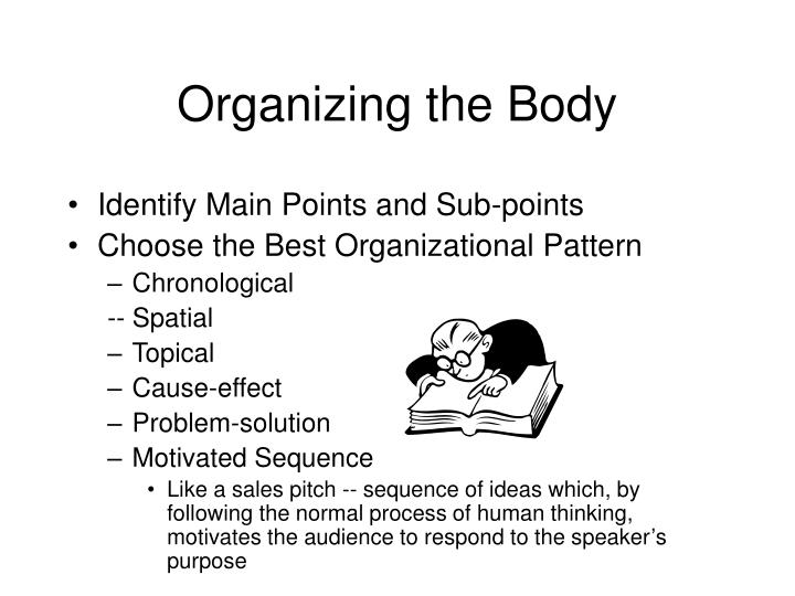 PPT Organizing Your Ideas PowerPoint Presentation ID40 Delectable Spatial Organizational Pattern