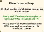 discordance in kenya
