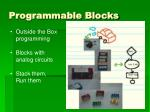 programmable blocks