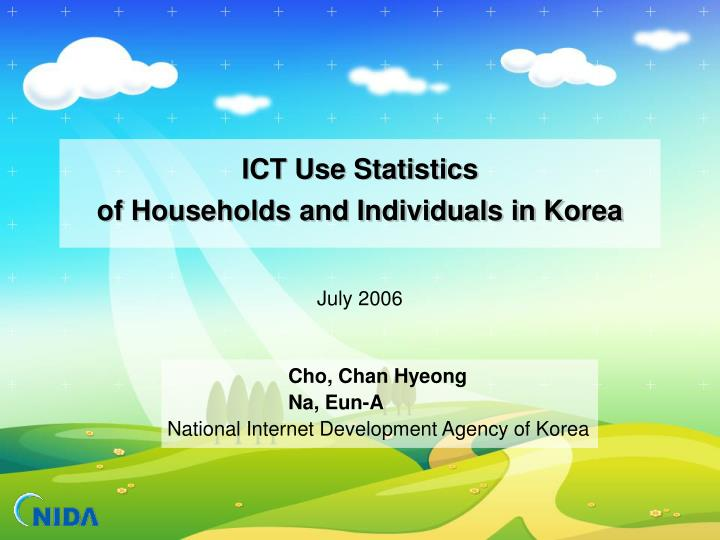 ict use statistics of households and individuals in korea n.