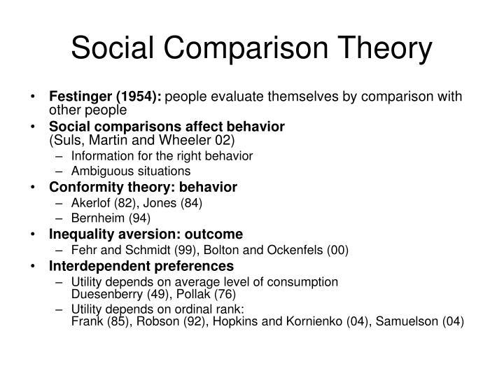 festinger 1954 social comparison theory