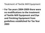 treatment of textile mill equipment5