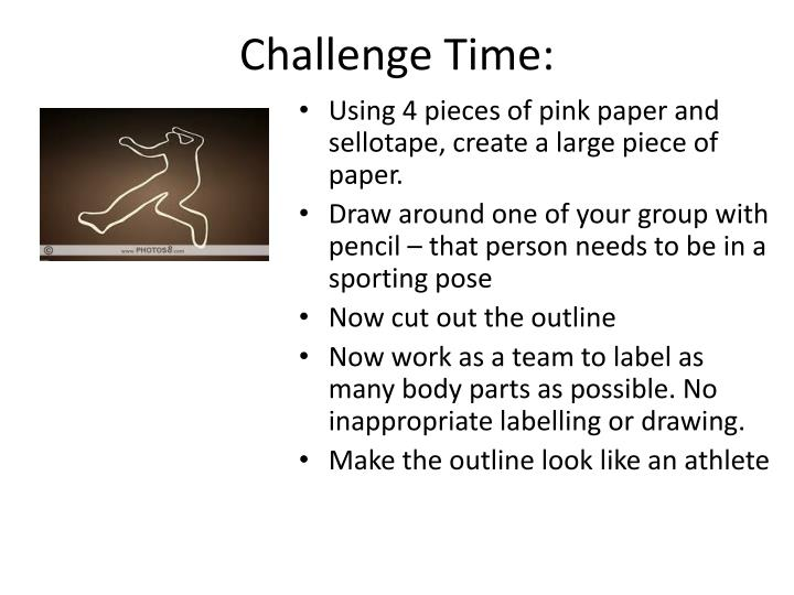 Challenge Time: