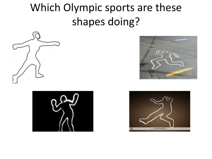Which olympic sports are these shapes doing