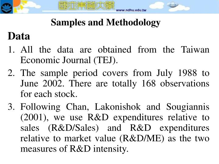 Samples and Methodology
