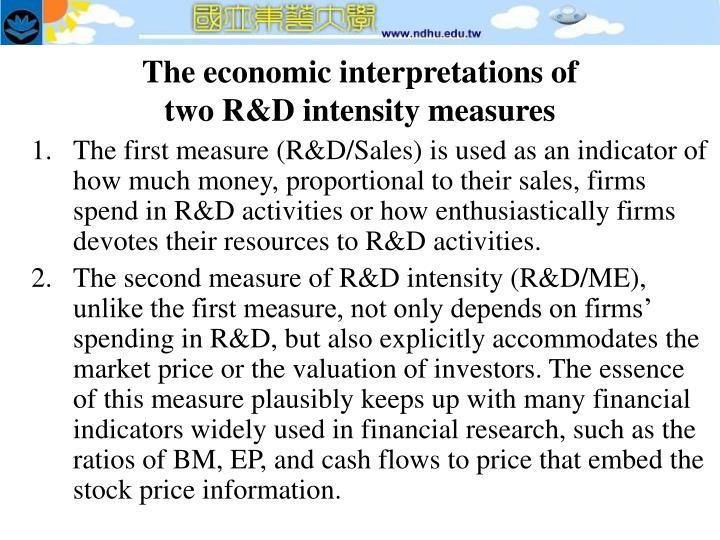 The economic interpretations of