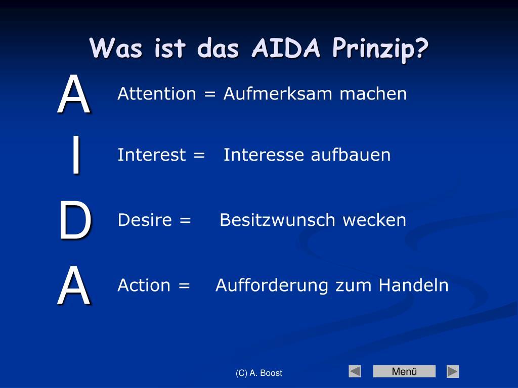 Das Aida Prinzip Bei Einer Bewerbung Ppt 1