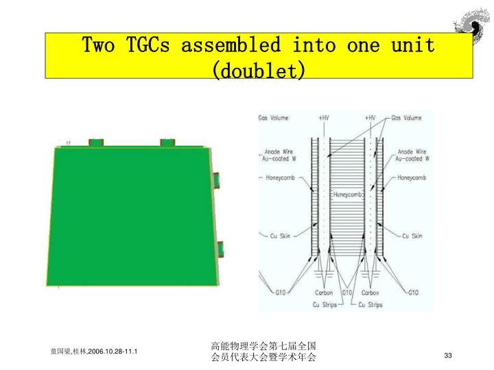 Two TGCs assembled into one unit (doublet)