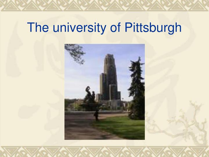 The university of pittsburgh