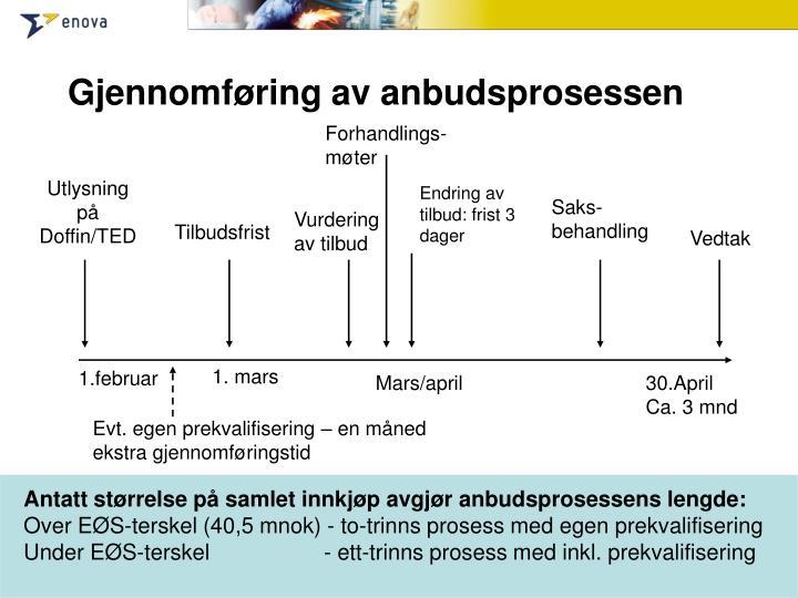 Gjennomføring av anbudsprosessen