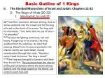 basic outline of 1 kings13