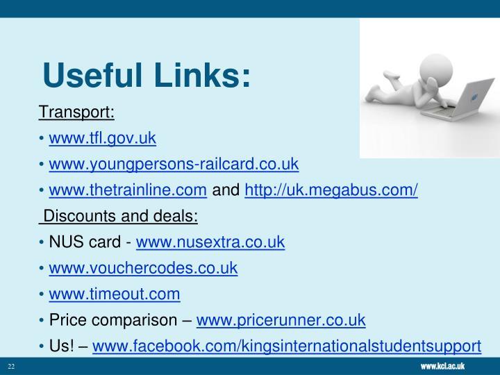 Useful Links: