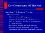 key components of the plan1
