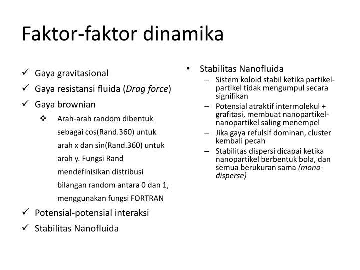 Faktor-faktor dinamika