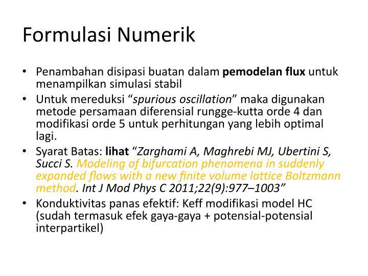 Formulasi Numerik
