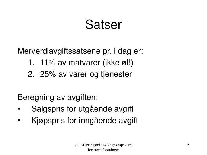 Satser