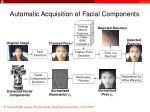 automatic acquisition of facial components
