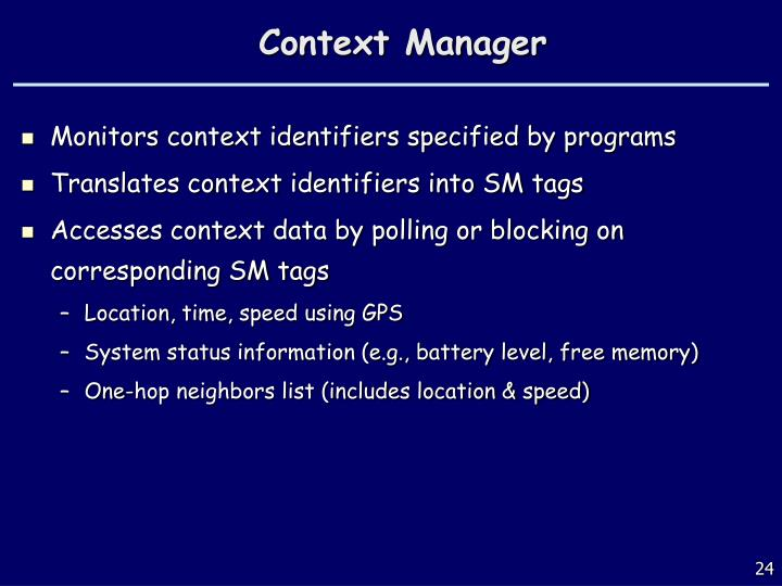 Context Manager