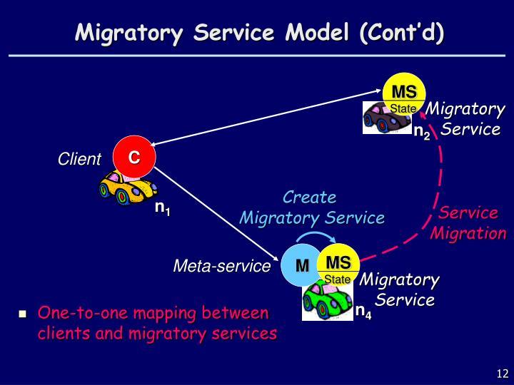 Migratory Service Model (Cont'd)
