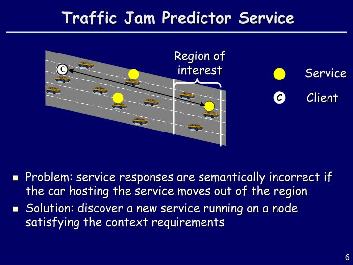 Traffic Jam Predictor Service