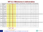 wp 6 2 milestones deliverables1