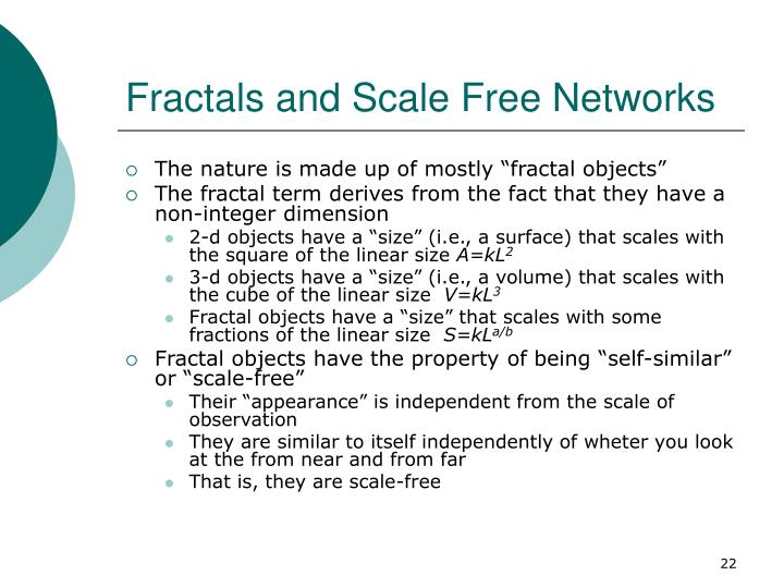 Fractals and Scale Free Networks