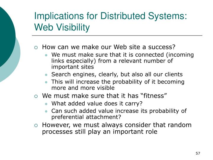 Implications for Distributed Systems: