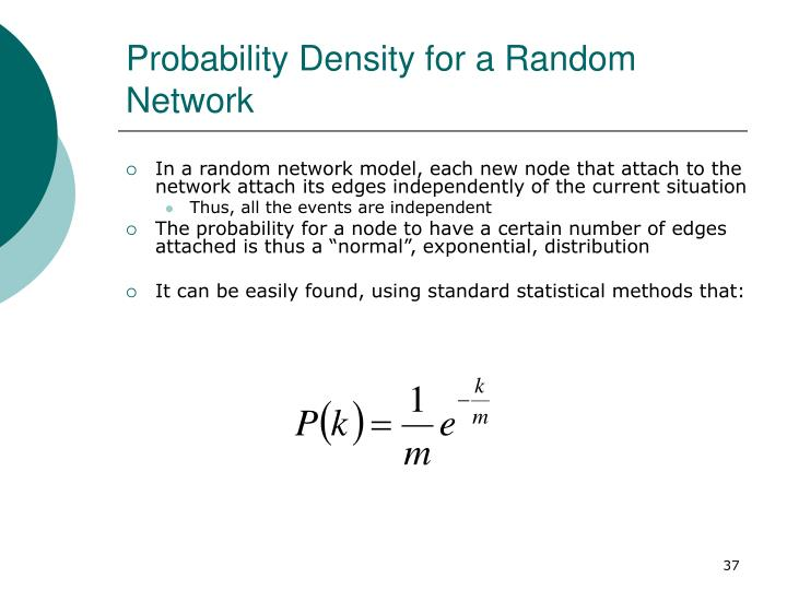 Probability Density for a Random Network