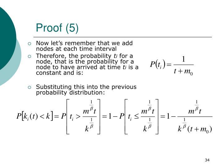 Proof (5)