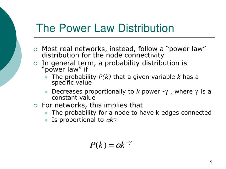 The Power Law Distribution