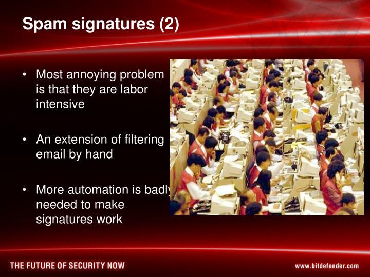 Spam signatures (2)