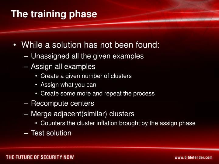 The training phase