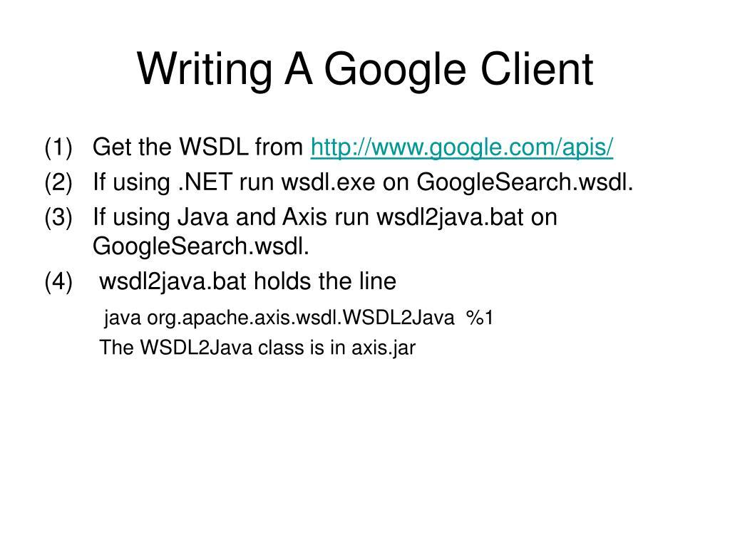 PPT - Web Services Description Language PowerPoint