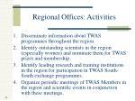 regional offices activities