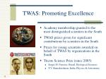 twas promoting excellence