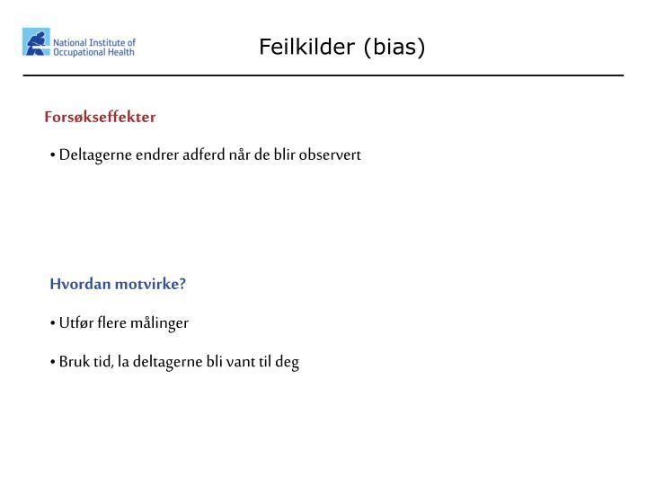 Feilkilder (bias)