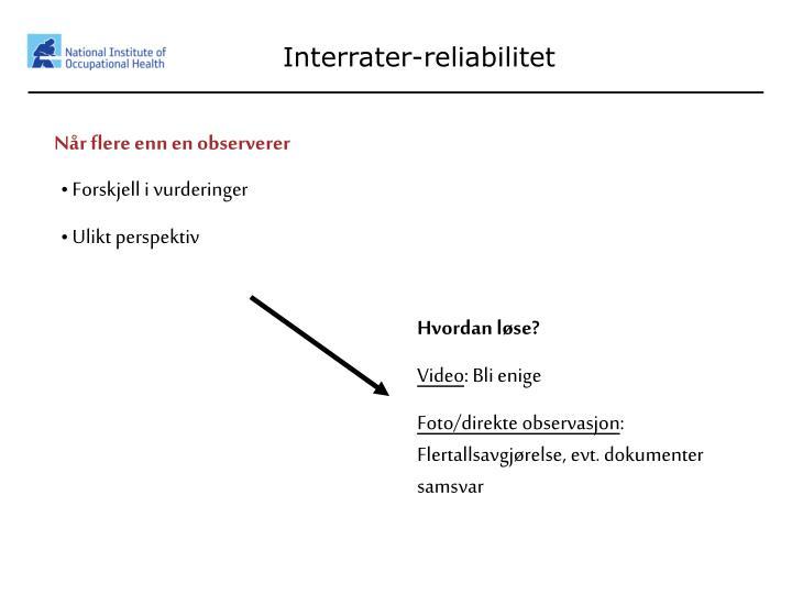 Interrater-reliabilitet