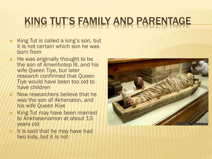 King tut s family and parentage