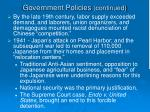 government policies continued2