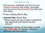 vocab grammar friday
